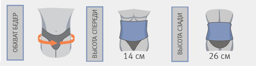 Корсет пояснично-крестцовый с дополнительным поясом Orliman LTG-305